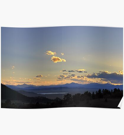 Sunset over Collegiate Peaks Poster