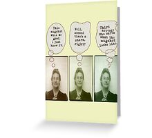 Bertha's Been Busted Greeting Card