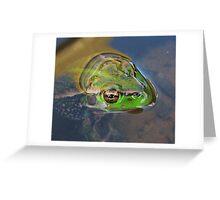 Frog - Eyes Greeting Card