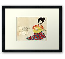 The beauty we love Framed Print