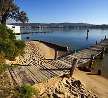 Jetty at Merimbula Lake by Darren Stones