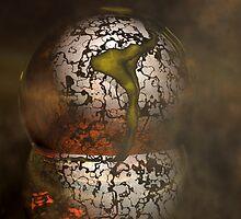 Cosmic Disturbance in Gold Nebulae1 by Sazzart