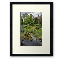 The garden pond Framed Print