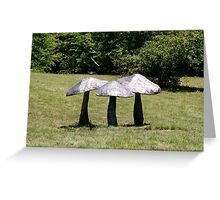 Mushroom Sculpture Greeting Card