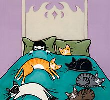 Bed Time with Cats by Ryan Conners