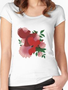 Crested Cardinals Women's Fitted Scoop T-Shirt