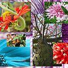Garden Flower Collage by Joni  Rae
