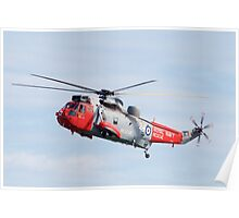 Royal Navy Sea King Rescue Helicopter Poster