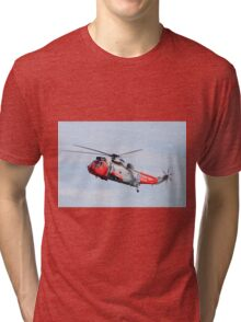 Royal Navy Sea King Rescue Helicopter Tri-blend T-Shirt