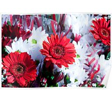 Red Bouquets Poster