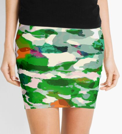 Abstract Army Pattern Mini Skirt