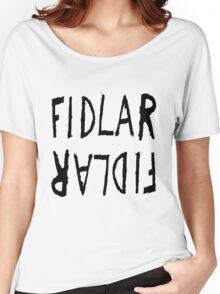 Fidlar logo white Women's Relaxed Fit T-Shirt