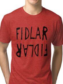 Fidlar logo white Tri-blend T-Shirt