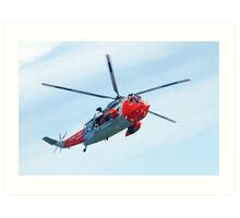 Royal Navy Sea King Rescue Helicopter Art Print
