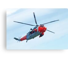 Royal Navy Sea King Rescue Helicopter Canvas Print
