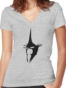 Witch-king Black Women's Fitted V-Neck T-Shirt