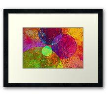 Circles a la Mode Framed Print