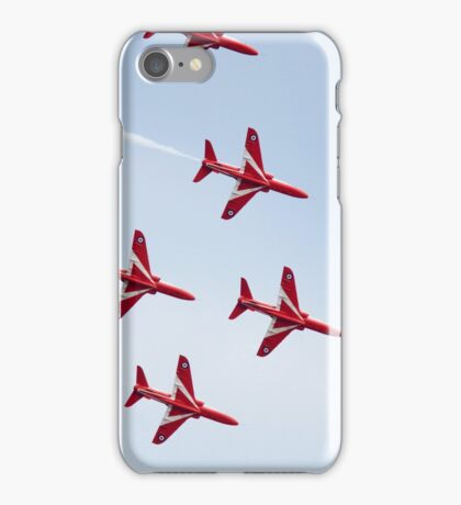 RAF Red Arrows Aerobatics Display Team iPhone Case/Skin