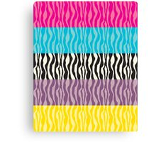 Pastel Zebra Patterns Canvas Print