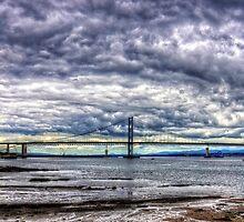 Clouds over the Bridge Panorama by Tom Gomez