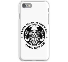 Starbucks Black Metal / Hail Satan iPhone Case/Skin