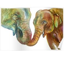 Yellophant and Mum Poster