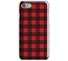 Buffalo Plaid in Lumberjack Red and Black iPhone Case/Skin