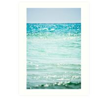Bokeh on the Beach Art Print