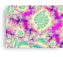 Rapsberry Heart Star, the Abstract Fractal Heart Beat of Love Canvas Print