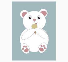 Polar Bear Eating Ice Cream Baby Tee