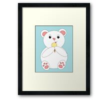 Polar Bear Eating Ice Cream Framed Print