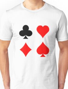 Blackjack poker card suits vector art geek funny nerd Unisex T-Shirt
