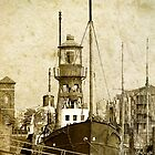 Lighthouse ship Helwick, Swansea, Wales by buttonpresser