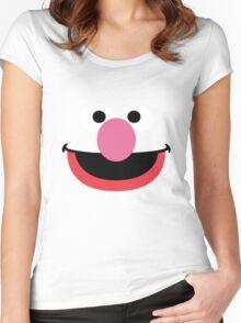 Grover face art geek funny nerd Women's Fitted Scoop T-Shirt