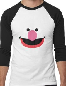 Grover face art geek funny nerd Men's Baseball ¾ T-Shirt