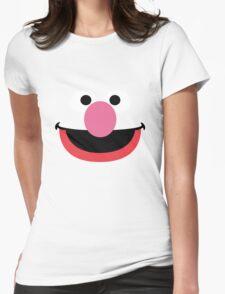 Grover face art geek funny nerd Womens Fitted T-Shirt
