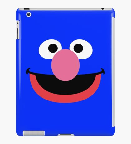 Grover face art geek funny nerd iPad Case/Skin