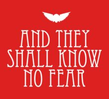 And They Shall Know No Fear Kids Clothes