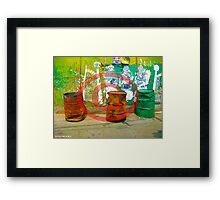 3 Oil Drums Framed Print