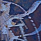 Diamond relief on rusty. Abstract. Tribute to ***Mimi yoon*** like jewels and true diamonds. Brown Sugar nice gift. by © Andrzej Goszcz,M.D. Ph.D