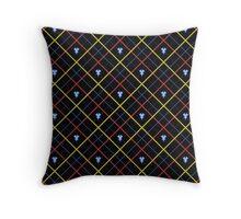 Mark of Mastery Argyle - Tricolour Throw Pillow