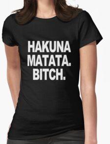 Hakuna matata sweater geek funny nerd Womens Fitted T-Shirt
