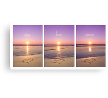 Hope Love Grace Canvas Print
