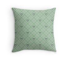 Kingdom Hearts Argyle - Moss Throw Pillow