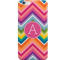 Monogram Letter A with Bright Chevrons iPhone Case/Skin