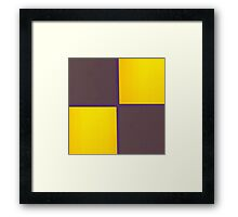 Purple and Yellow Leather patchwork  Framed Print