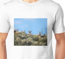 Summer mule deer bucks Unisex T-Shirt