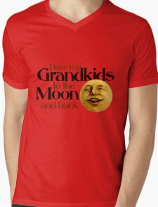 I love my grandkids to the moon and back Mens V-Neck T-Shirt