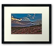 Clouds Over The Hedland Framed Print