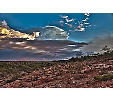 Clouds Over The Hedland Photographic Print
